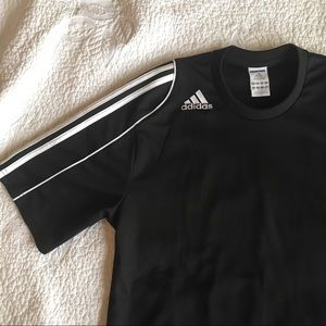 Adidas Black and White Athletic Shirt